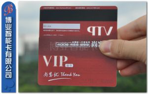 Popular Lo-Co Transparent Effect with Magnetic Stripe Card pictures & photos