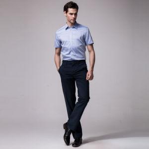 Italian Collar Royal Blue Dress Shirts for Men pictures & photos
