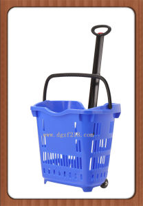 40L Customized Plastic Trolley Supermarket Baskets for Sale