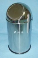 Shiny Stainless Steel Open Top Dustbin pictures & photos