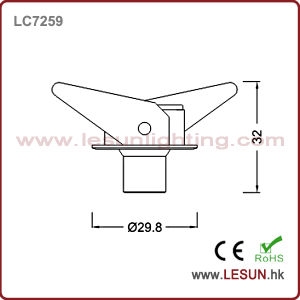 High Power Recessed Instal 1W LED Under Cabinet Light/Spotlight LC7259 pictures & photos