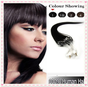Peruvian Remy Loop Ring Human Hair Extensions pictures & photos