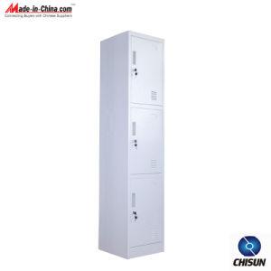 Three- Door Steel Clothes Cabinet Hs-006