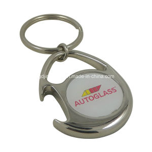 Custom Epoxy Zinc Alloy Bottle Opener Keychain pictures & photos