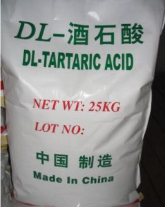 Food Additives L-Tartaric Acid, D-Tartaric Acid pictures & photos