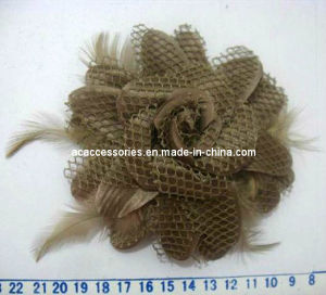 Satin Feather Handmade Fabric Corsage Promotion Gift (SFC0771/1)