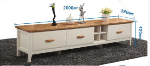 European Simple Solid Wood TV Cabinet or TV Stand pictures & photos
