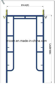 Painting Drop Lock Scaffold Frames for 6′4′′x3′ pictures & photos