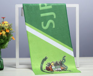 Factory Sublimation Printed Water Absorption Super Microfiber Colorfull Brushing Towel pictures & photos