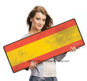 High Quality National Flag Extended Rubber Gaming Mouse Pad pictures & photos