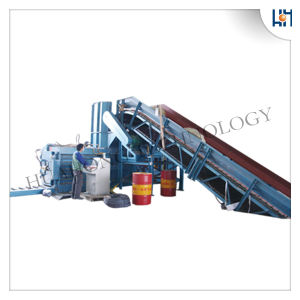 Semi-Automatic Horizontal Waste Paper Cardboard Carton Baler Recycling Machine pictures & photos