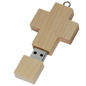 Wooden Cross USB Flash Driver Crucifix Christ USB Stick 64GB (UW14) pictures & photos