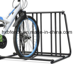 Parking 9 Bikes Hot-Dipped Powder Coated Floor Bike Racks pictures & photos