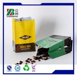 FDA ISO Plastic Aluminum Foil Coffee Bean Bag with Zipper pictures & photos