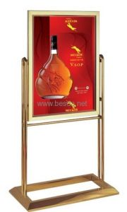 LED Ultra Thin Light Box with Golden Frame