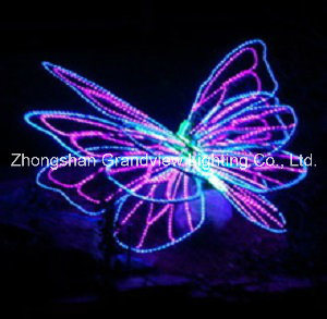 LED Rope Butterfly Motif Xmas Lights for Illumination and Decorations pictures & photos