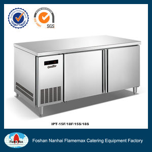 Hot Sale Workbench with Fan Cooking Pizza Worktop Prepare Station (IPT-18F) pictures & photos
