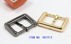 Gold Shining Metal Pin Belt Buckle for Shoes Bags and Garments pictures & photos