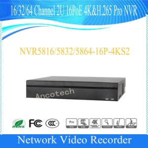 64 Channel 2u 16poe 4k&H. 265 PRO HD Dahua NVR (NVR5864-16P-4KS2) pictures & photos
