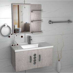 Melamine Board Wall Bathroom Cabinets with Double Door, Mirror pictures & photos