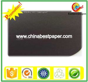 Uncoated 210g Black Cardboard Paper pictures & photos