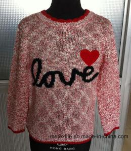 Girls Acrylic Slub Intarsia - True Knitted Sweater pictures & photos