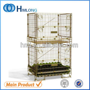 Warehouse Steel Wire Mesh Container for Wine Storage pictures & photos