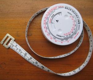BMI Body Plastic Retractable Tape Measure pictures & photos