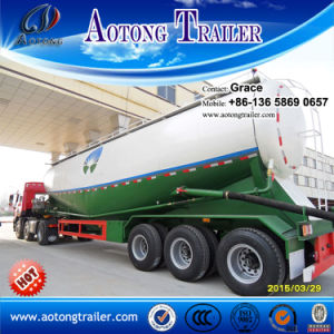 3 Axles V Type Bulk Cement Tank Semi-Trailer / Low-Density Bulk Powder Goods Tanker Semi Trailer on Sale pictures & photos