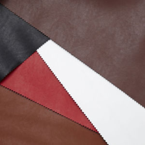 Semi Microfiber PU Leather for Shoes and Bags (BGF114-XXET) pictures & photos