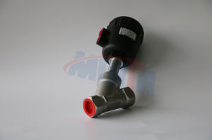 Stainless Steel NPT Female Threaded End, 4 Inch AISI304/316 Pneumatic Angle Seat Valve