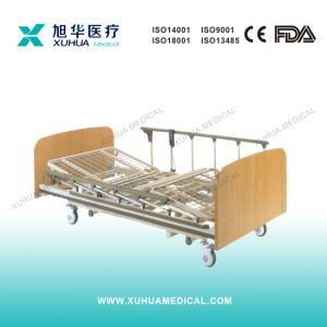 Wooden Electric Super-Low Three Functions Hospital Bed (Type B) pictures & photos