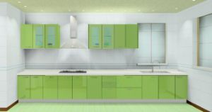 High Glossy Kitchen Cabinet (ZH-8606) pictures & photos