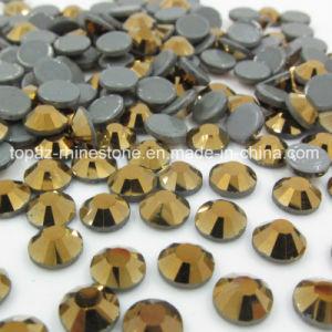 Crystal Rhinestone Hot-Fix Rhinestone Trims Aurum Gold Color Ss20 pictures & photos