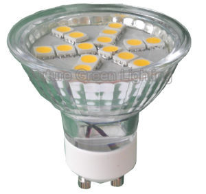GU10 LED Light (15SMD 5050 with glass cover) pictures & photos
