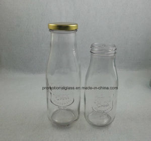 Square Shaped Glass Milk Bottle with Cap pictures & photos