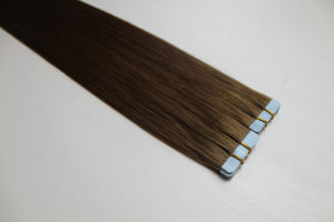Wholesale Cheap Double Drawn Blue Tape Human Hair pictures & photos