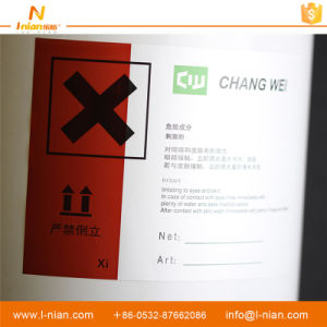 Waterproof Adhesive Chemical Bottle Label Stickers pictures & photos