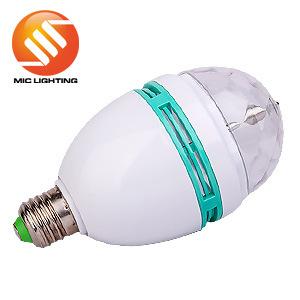 KTV, Bar, Party, Disco 3W LED Moving RGB Bulb Light Lamp