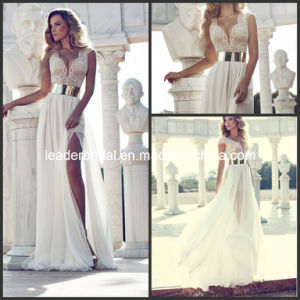 Julie Vino Gowns Beaded Bodice Plunging V-Neck Party Evening Dress E1319 pictures & photos