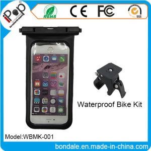 Waterproof Pouch Bike Mount with Install The on The Handlebar