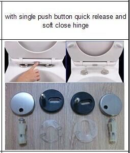 Quick Release Decorative Toilet Cover pictures & photos