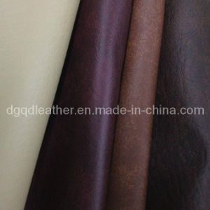 Sofa Furniture PVC Leather (QDL-FV008) pictures & photos