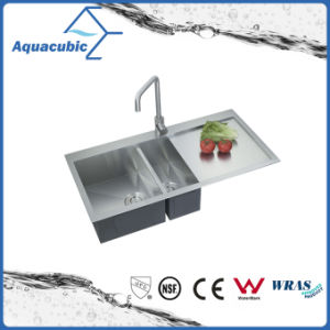 Luxury Handmade Double Bowl Kitchen Sink (ACS3920A2) pictures & photos