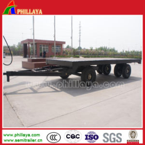 Full 2 Axles Flat Bed 20FT Container Transport Drawbar Trailer pictures & photos
