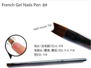 2016 New Nail Art Natural Wood Handle UV Gel Brushes Salon Pen French Top