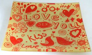 Stylish Love Kiss Decal Decorative Food Tempered Glass Plate pictures & photos