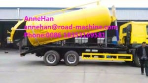HOWO 10 Cbm Sewage Suction Truck 6X4 for Sanitary Sewer Cleaning