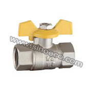 Standard Bore Female Forged Brass Ball Valve with Butterfly Handle pictures & photos