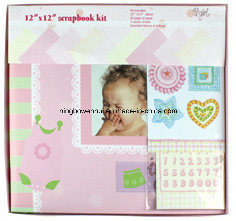 "12""X12"" Baby Girl Paper Scrapbook Album Kit"